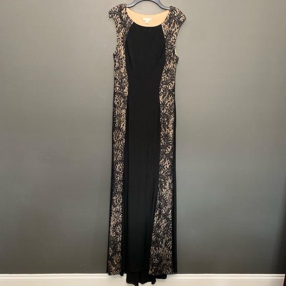 Cache Dresses & Skirts - Cache Black Sequins Floor Length Formal Dress